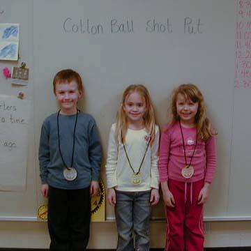 Mrs niederstadt 39 s class enjoys the olympics february 2006 - Put cotton ball trash can ...